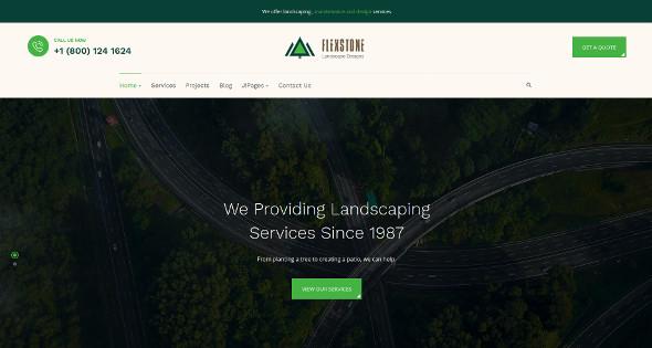 JA Landscape - Download Gardening Joomla Template