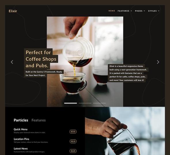 RocketTheme Elixir - Download Coffee Joomla Template