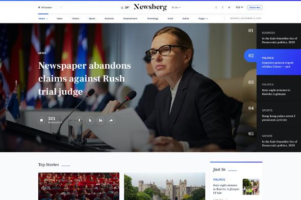 JoomShaper Newsberg - Download News Joomla Template