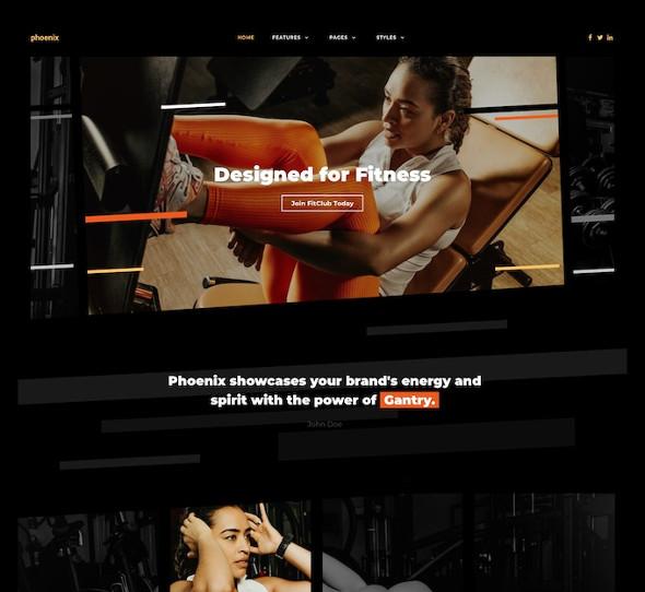 RocketTheme Phoenix - Download Fitness Joomla Template