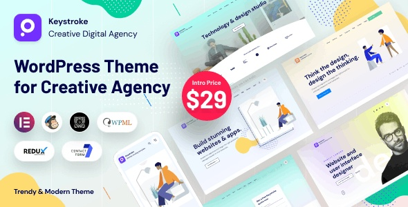 ThemeForest Keystroke - Download Creative Agency WordPress Theme