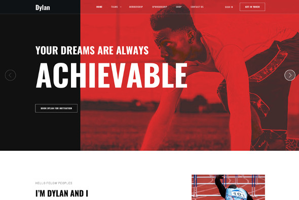 JoomShaper Dylan - Download Sports Joomla Template