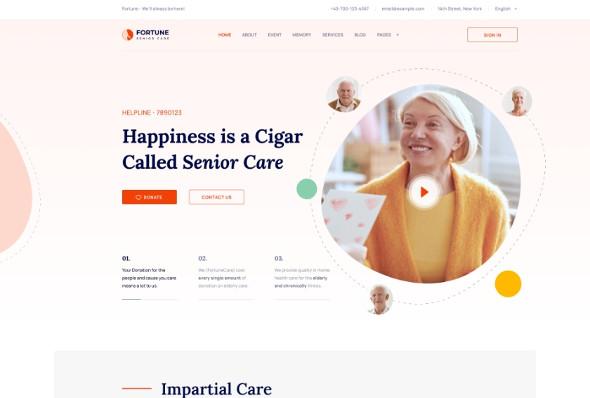 JoomShaper Fortune - Download Elderly Care Joomla Template