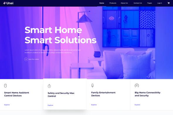 JoomShaper Unei - Download Smart Home Joomla Template