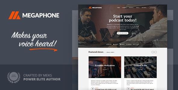 ThemeForest Megaphone - Download Audio Podcast WordPress Theme