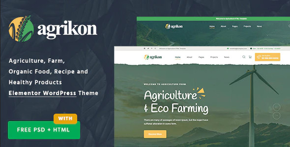 ThemeForest Agrikon - Download Organic Food & Agriculture WooCommerce Theme