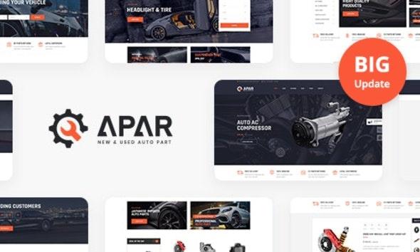 ThemeForest Apar - Download Auto Parts WordPress Shop Theme