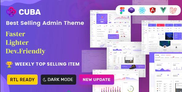ThemeForest Cuba - Download Bootstrap 4 & 5 HTML, React, Angular 12, VueJS & Laravel Admin Dashboard Template