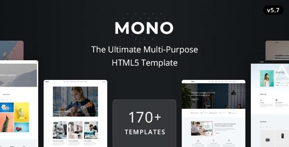 ThemeForest Mono - Download Multi-Purpose HTML5 Template