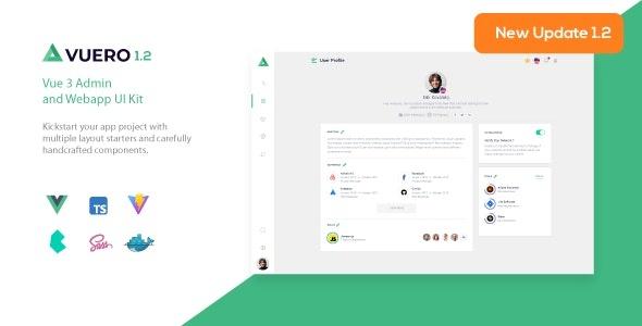 ThemeForest Vuero - Download VueJS 3 Admin and Webapp UI Kit
