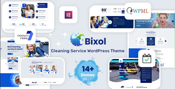 ThemeForest Bixol - Download Cleaning Services WordPress Theme