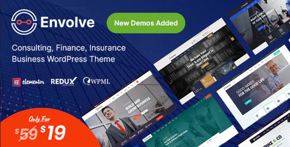 ThemeForest Envolve - Download Consulting Business WordPress Theme
