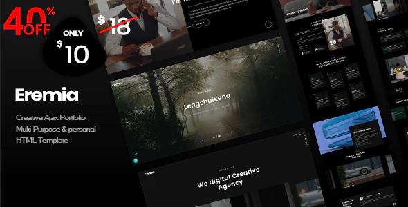 ThemeForest Eremia - Download Creative Ajax Portfolio Multi-Purpose and Personal HTML Template