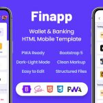 ThemeForest Finapp - Download Wallet and Banking HTML Mobile Template