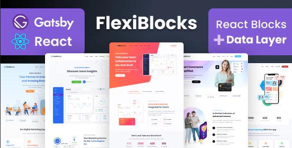 ThemeForest FlexiBlocks - Download React Gatsby Landing Page Templates