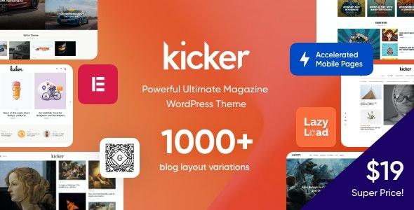 ThemeForest Kicker - Download Multipurpose Blog Magazine WordPress Theme