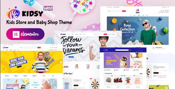 ThemeForest Kidsy - Download Kids Store and Baby Shop WooCommerce Theme
