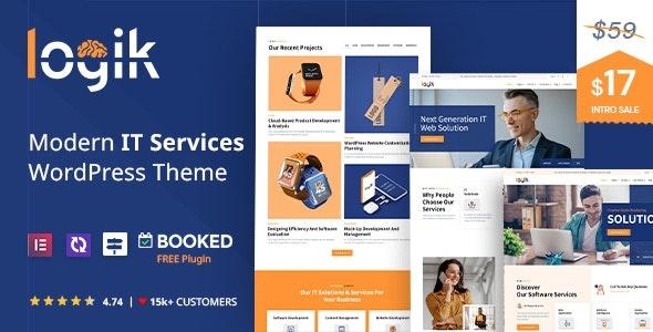 ThemeForest Logik - Download IT Services WordPress Theme