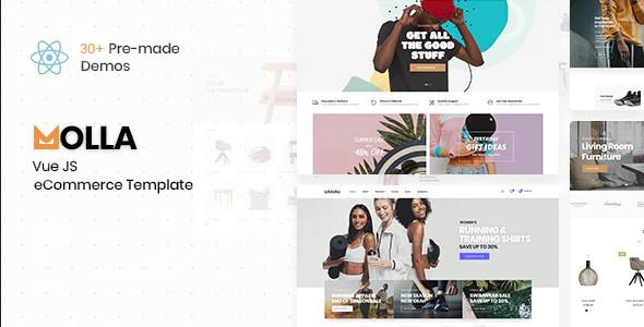 ThemeForest Molla - Download VueJS eCommerce Template