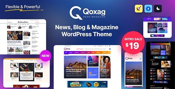 ThemeForest Qoxag - Download WordPress News Magazine Theme