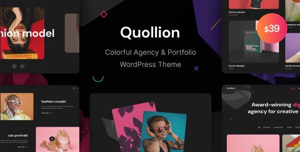 ThemeForest Quollion - Download Colorful Agency and Portfolio WordPress Theme