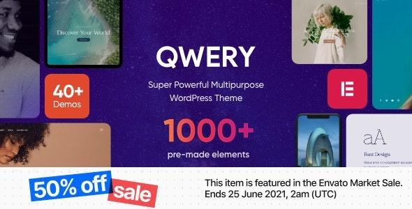 ThemeForest Qwery - Download Multi-Purpose Business WordPress Theme + RTL