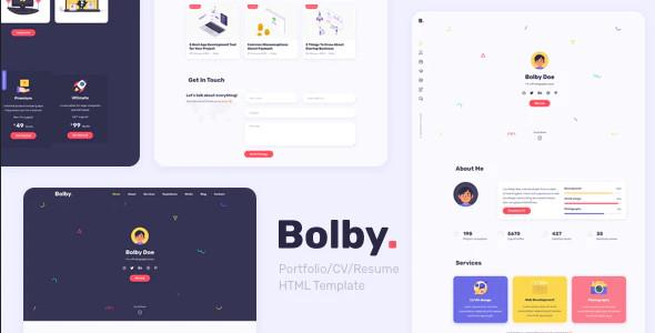 ThemeForest Bolby - Download Portfolio/CV/Resume HTML Template