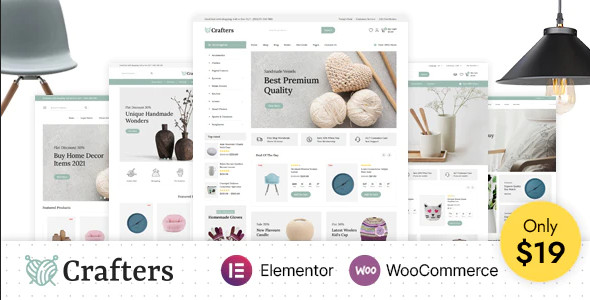 ThemeForest Crafters - Download Art and Decor WooCommerce WordPress Theme