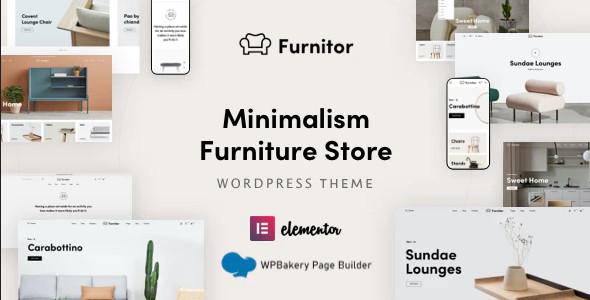 ThemeForest Furnitor - Download Minimalism Furniture Store WordPress Theme