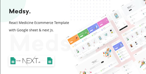 ThemeForest Medsy - Download React Medicine Ecommerce Template with Google sheet & Next JS