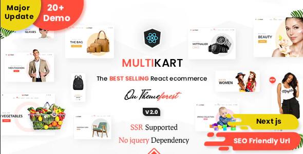 ThemeForest Multikart - Download React Next JS Multipurpose Ecommerce, React Hooks, GraphQL & REST API