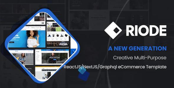 ThemeForest Riode - Download React NextJS eCommerce Template