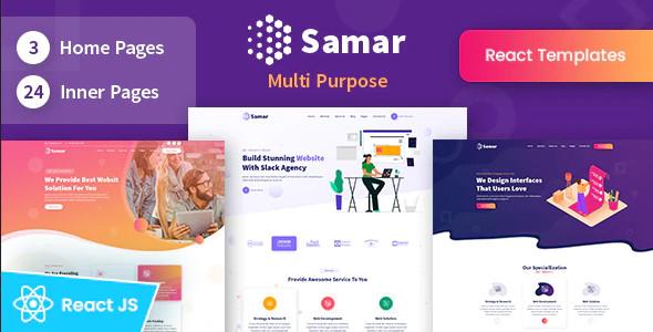 ThemeForest Samar - Download Creative Agency React Template