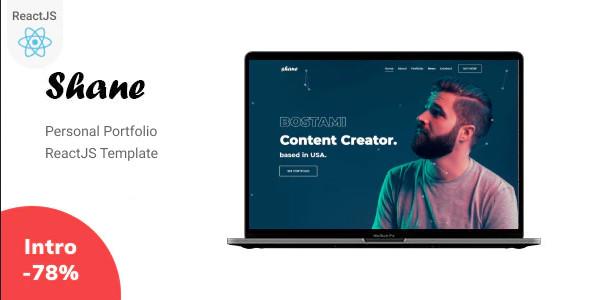 ThemeForest Shane - Download React Personal Portfolio Template