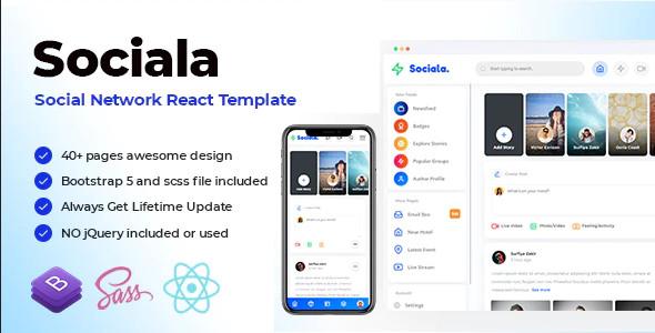 ThemeForest Sociala - Download Social Network App React Template