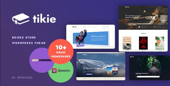 ThemeForest Tikie - Download Book Store WooCommerce WordPress Theme