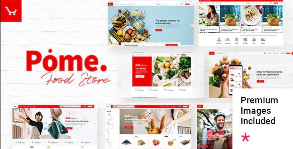 ThemeForest Pome - Download Food Store WordPress Theme